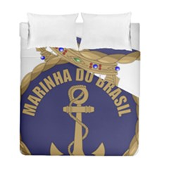 Seal Of Brazilian Navy  Duvet Cover Double Side (full/ Double Size) by abbeyz71