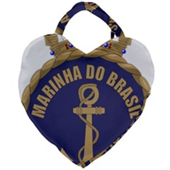 Seal Of Brazilian Navy  Giant Heart Shaped Tote by abbeyz71