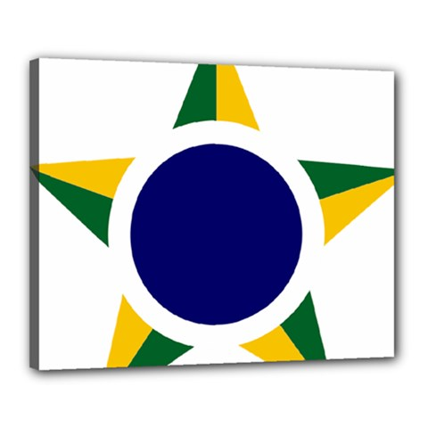 Roundel Of Brazilian Air Force Canvas 20  X 16  by abbeyz71