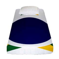 Roundel Of Brazilian Air Force Fitted Sheet (single Size) by abbeyz71