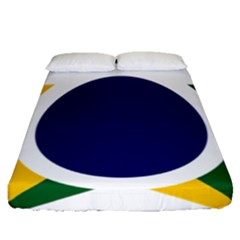Roundel Of Brazilian Air Force Fitted Sheet (queen Size) by abbeyz71