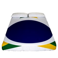 Roundel Of Brazilian Air Force Fitted Sheet (king Size) by abbeyz71