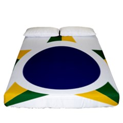 Roundel Of Brazilian Air Force Fitted Sheet (california King Size) by abbeyz71