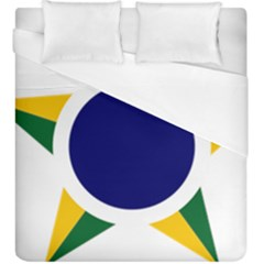 Roundel Of Brazilian Air Force Duvet Cover (king Size) by abbeyz71