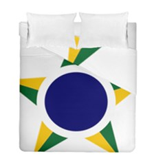 Roundel Of Brazilian Air Force Duvet Cover Double Side (full/ Double Size) by abbeyz71