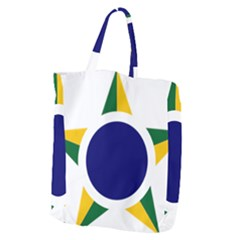 Roundel Of Brazilian Air Force Giant Grocery Zipper Tote by abbeyz71