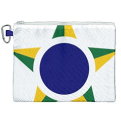 Roundel Of Brazilian Air Force Canvas Cosmetic Bag (xxl) by abbeyz71