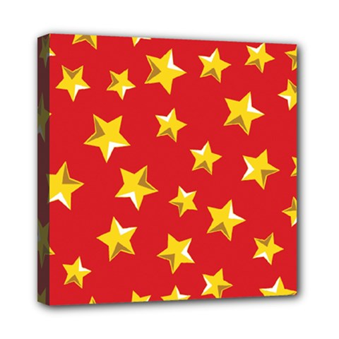 Yellow Stars Red Background Pattern Multi Function Bag	 by Sapixe