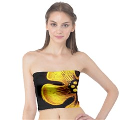 Yellow Flower Stained Glass Colorful Glass Tube Top