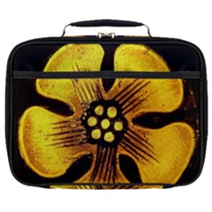 Yellow Flower Stained Glass Colorful Glass Full Print Lunch Bag by Sapixe