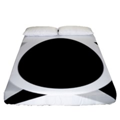 Roundel Of Brazilian Air Force (low Visibility) Fitted Sheet (queen Size) by abbeyz71