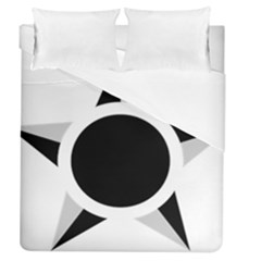 Roundel Of Brazilian Air Force (low Visibility) Duvet Cover (queen Size) by abbeyz71