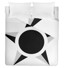 Roundel Of Brazilian Air Force (low Visibility) Duvet Cover Double Side (queen Size) by abbeyz71