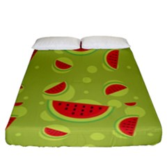 Watermelon Fruit Patterns Fitted Sheet (king Size) by Sapixe