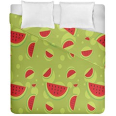Watermelon Fruit Patterns Duvet Cover Double Side (california King Size)
