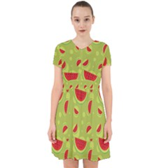Watermelon Fruit Patterns Adorable In Chiffon Dress by Sapixe