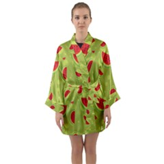 Watermelon Fruit Patterns Long Sleeve Kimono Robe by Sapixe