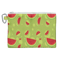 Watermelon Fruit Patterns Canvas Cosmetic Bag (xl) by Sapixe