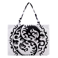 Ying Yang Tattoo Medium Tote Bag by Sapixe