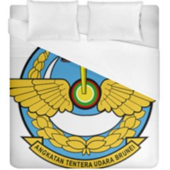 Emblem Of Royal Brunei Air Force Duvet Cover (king Size) by abbeyz71