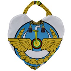 Emblem Of Royal Brunei Air Force Giant Heart Shaped Tote by abbeyz71