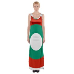 Bulgarian Air Force Roundel Maxi Thigh Split Dress by abbeyz71