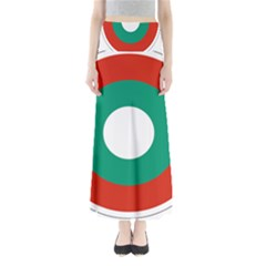 Bulgarian Air Force Roundel Full Length Maxi Skirt by abbeyz71