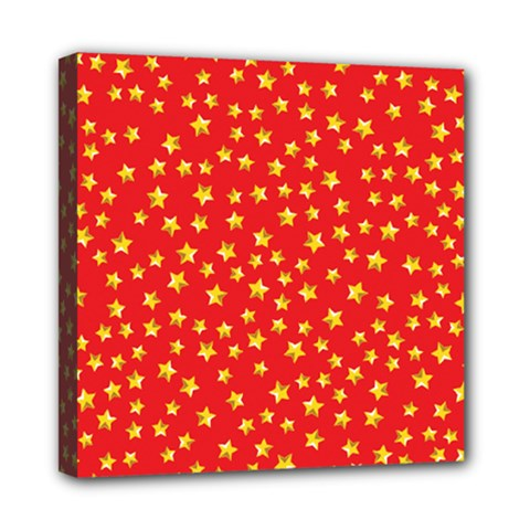 Yellow Stars Red Background Multi Function Bag