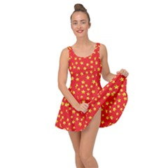 Yellow Stars Red Background Inside Out Dress