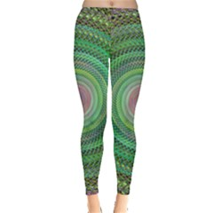 Wire Woven Vector Graphic Leggings  by Sapixe