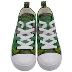 Wire Woven Vector Graphic Kid s Mid Top Canvas Sneakers