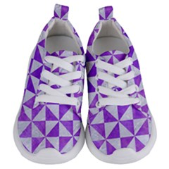 Triangle1 White Marble & Purple Watercolor Kids  Lightweight Sports Shoes