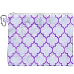 Tile1 White Marble & Purple Watercolor (r) Canvas Cosmetic Bag (xxxl) by trendistuff