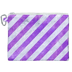 Stripes3 White Marble & Purple Watercolor (r) Canvas Cosmetic Bag (xxl) by trendistuff