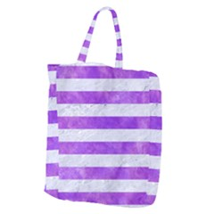 Stripes2white Marble & Purple Watercolor Giant Grocery Zipper Tote by trendistuff