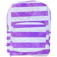 Stripes2white Marble & Purple Watercolor Full Print Backpack by trendistuff