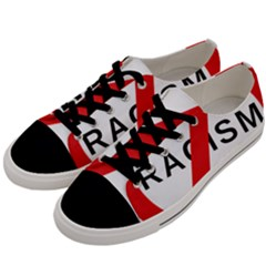 No Racism Men s Low Top Canvas Sneakers by demongstore