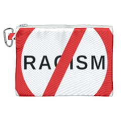 No Racism Canvas Cosmetic Bag (xl) by demongstore