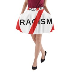 No Racism A Line Pocket Skirt by demongstore