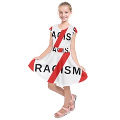 2000px No Racism Svg Kids  Short Sleeve Dress by demongstore