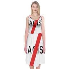 2000px No Racism Svg Midi Sleeveless Dress by demongstore