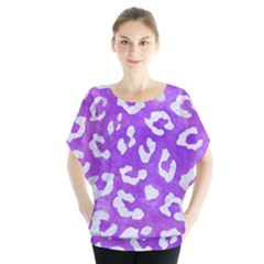 Skin5 White Marble & Purple Watercolor (r) Blouse