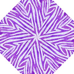 Skin4 White Marble & Purple Watercolor (r) Folding Umbrellas by trendistuff