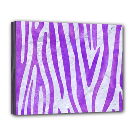 Skin4 White Marble & Purple Watercolor Deluxe Canvas 20  X 16   by trendistuff