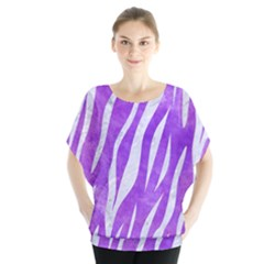Skin3 White Marble & Purple Watercolor Blouse