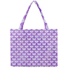 Scales3 White Marble & Purple Watercolor (r) Mini Tote Bag by trendistuff