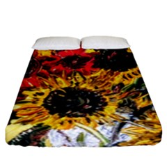 Sunflowers In A Scott House Fitted Sheet (king Size) by bestdesignintheworld