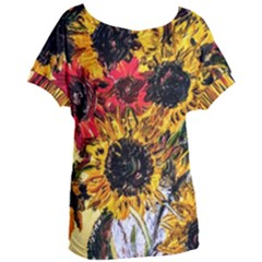 Sunflowers In A Scott House Women s Oversized Tee by bestdesignintheworld