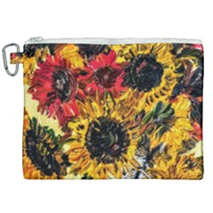 Sunflowers In A Scott House Canvas Cosmetic Bag (xxl) by bestdesignintheworld