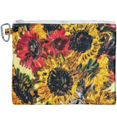 Sunflowers In A Scott House Canvas Cosmetic Bag (xxxl)